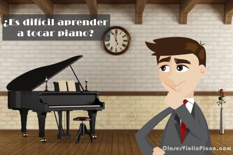 ¿Es difícil aprender a tocar piano?