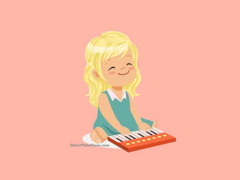 Clases de piano para niños de 2 , 3 y 4 años
